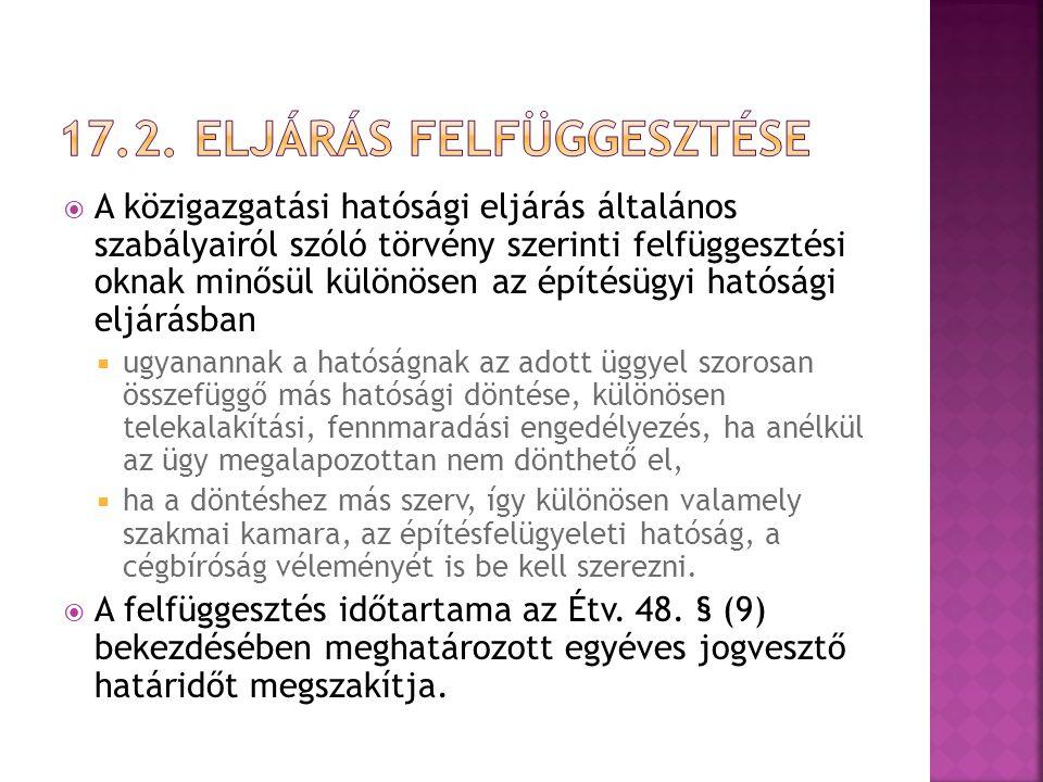  A hatóság a kérelmet érdemi vizsgálat nélkül, nyolc napon belül elutasítja, ha  az eljárásra magyar hatóságnak nincs joghatósága,  a hatóságnak nincs hatásköre vagy nem illetékes, és a kérelem áttételének nincs helye,  a kérelem nyilvánvalóan lehetetlen célra irányul,  jogszabály a kérelem előterjesztésére határidőt vagy határnapot állapít meg, és a kérelem idő előtti vagy elkésett,  a hatóság a kérelmet érdemben már elbírálta, és változatlan tényállás és jogi szabályozás mellett ugyanazon jog érvényesítésére irányuló újabb kérelmet nyújtottak be, és újrafelvételnek nincs helye, feltéve, hogy a kérelem érdemi vizsgálat nélküli elutasítását jogszabály nem zárja ki,  a kérelem nyilvánvalóan nem az előterjesztésére jogosulttól származik, vagy  a kérelem tartalmából megállapítható, hogy az ügy nem hatósági ügy.
