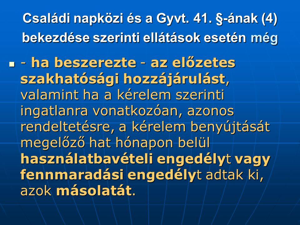 Családi napközi és a Gyvt.41.