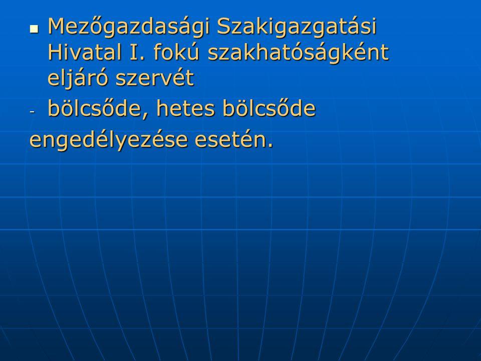 Mezőgazdasági Szakigazgatási Hivatal I.