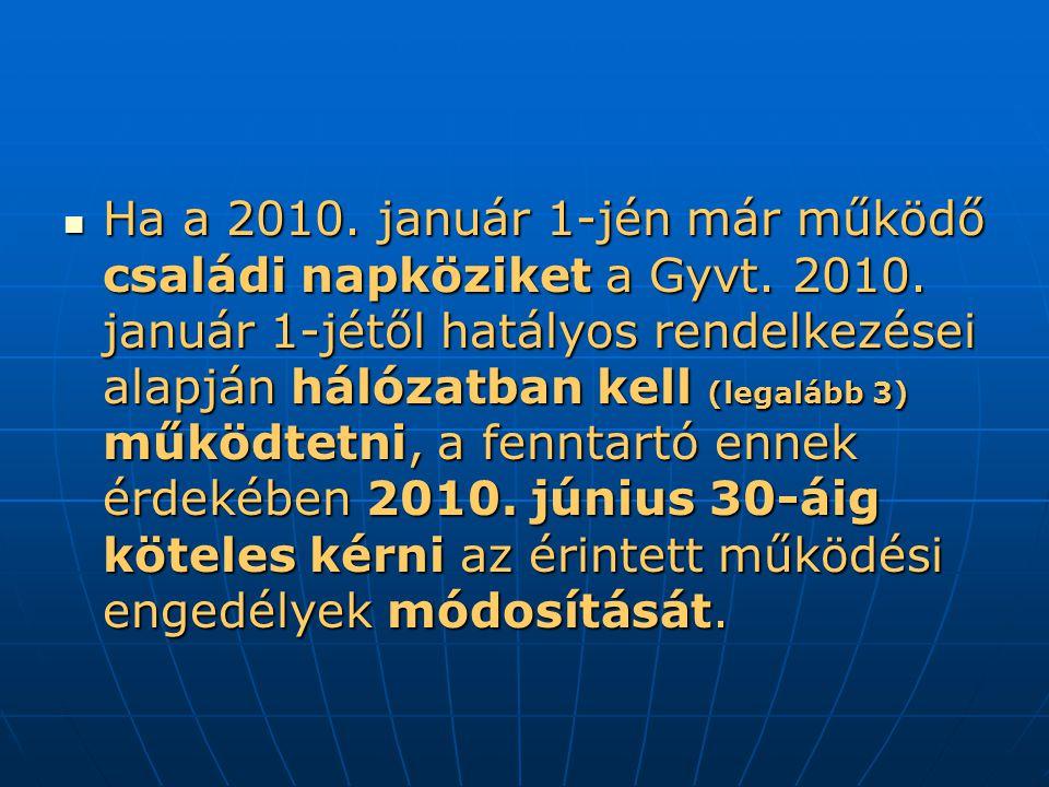 Ha a 2010.január 1-jén már működő családi napköziket a Gyvt.