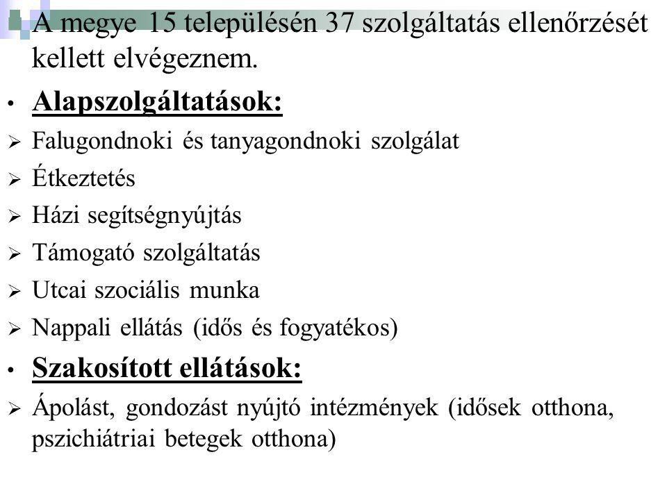 A megye 15 településén 37 szolgáltatás ellenőrzését kellett elvégeznem.