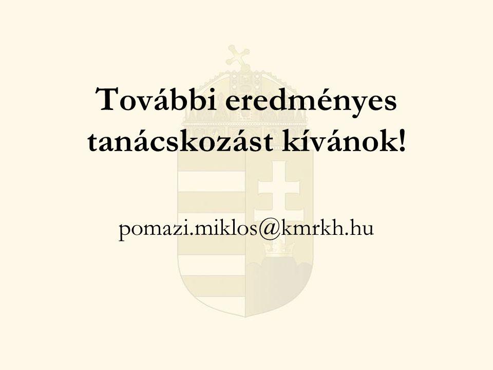 További eredményes tanácskozást kívánok! pomazi.miklos@kmrkh.hu