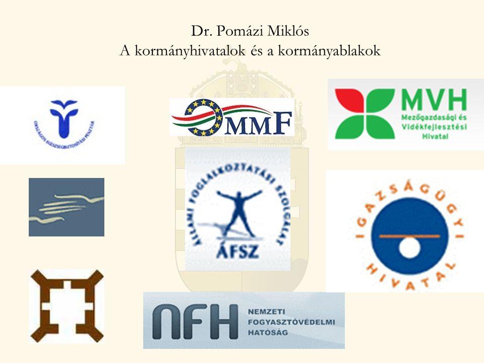 1991: Köztársasági megbízott 8 megbízott regionális szinten Gyenge koordinációs jogkör 1995: Közigazgatási hivatal 20 db, fővárosi és megyei szinten Nem volt szakigazgatási szerve 1997: Közigazgatási hivatal A kormány területi szerve Szakigazgatási szervek betagozódása 2007: Regionális államigazgatási hivatalok Regionális szinten szervezett 7 régióközpont és 13 kirendeltség Próbálkozások a hatékony szervezetrendszer kialakítására KÖVETKEZMÉNY Átláthatatlan szervezet és működés Gyenge területi kormányzat és koordináció Entitás nélküli területi közigazgatás KÖZIGAZGATÁSI ÉS IGAZSÁGÜGYI MINISZTÉRIUM