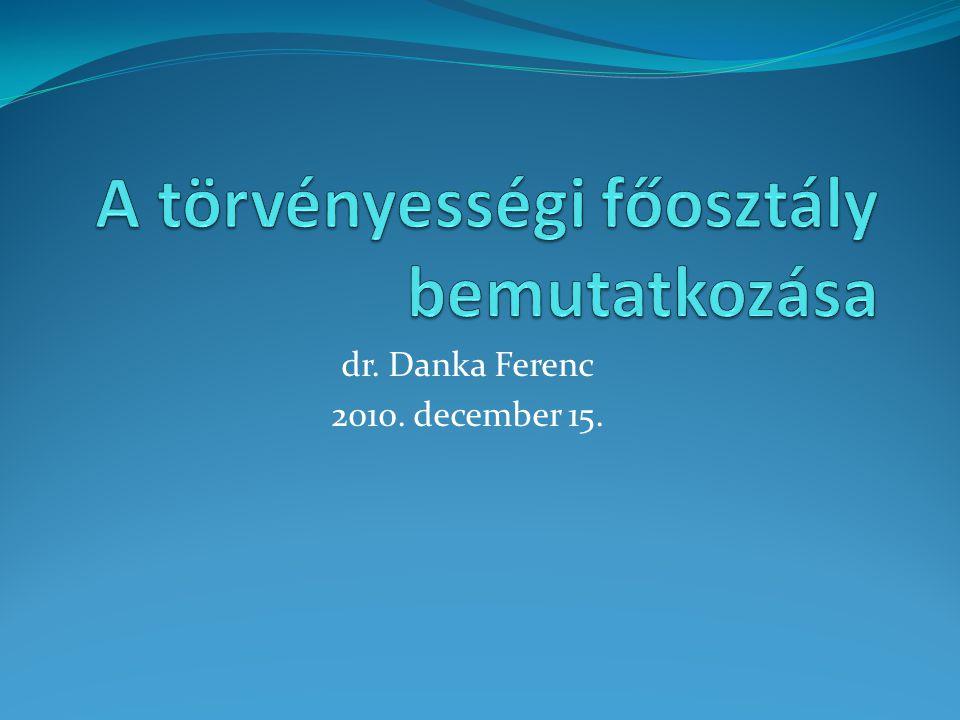 dr. Danka Ferenc 2010. december 15.