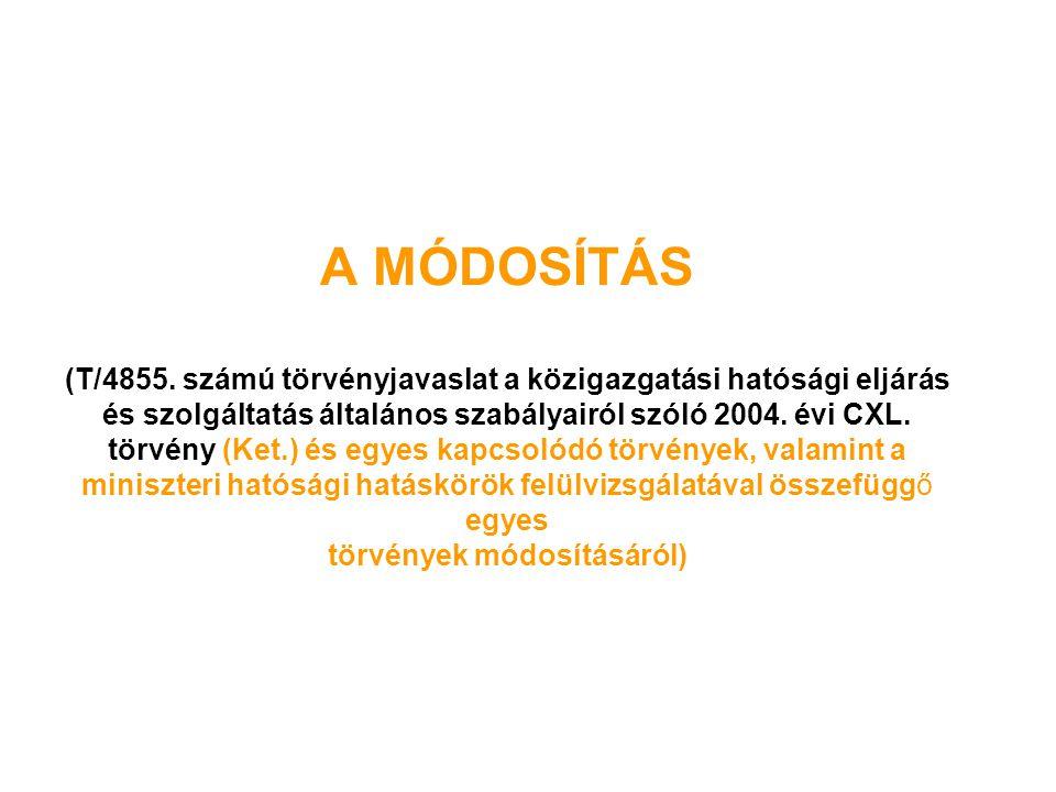 A MÓDOSÍTÁS (T/4855.