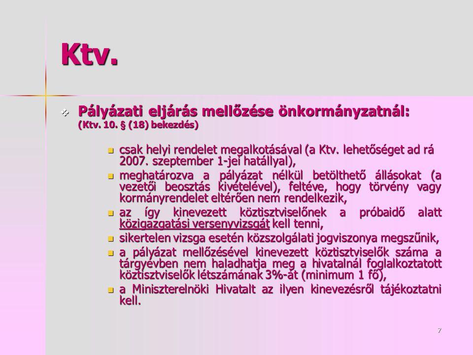 7 Ktv.  Pályázati eljárás mellőzése önkormányzatnál: (Ktv.
