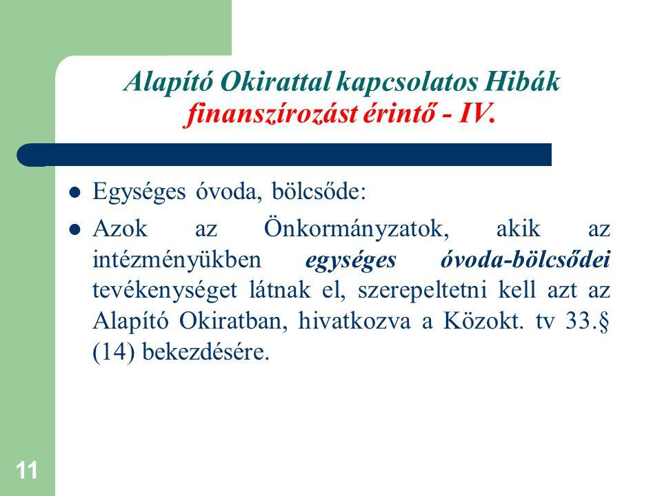 12 Törzskönyvi nyilvántartás módosítása Az Áht.10.