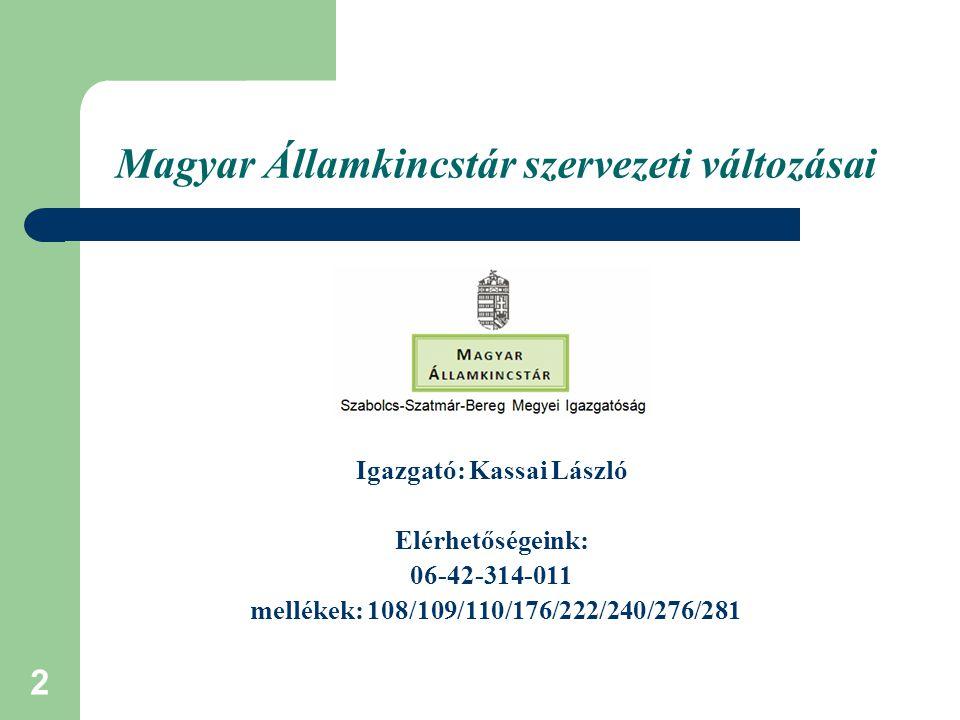 3 Közös jövő, közös gondolkodás Magyar Államkincstár - Államháztartási iroda feladata: Önkormányzatok, fenntartók, szolgáltatók, szakmai segítése, Folyamatos tájékoztatás, - Közös munka – Csak közösen tudunk jól dolgozni, ehhez kérjük az Önkormányzatok segítségét.