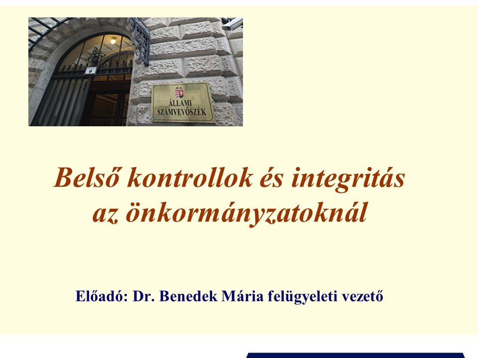 2 Az előadás témája I.Bevezetés ÁSZ-KIM programsorozat Az ÁSZ középtávú intézményi stratégiája – az államháztartási kontrollok alapvető célja Társadalmi érdek Nemzetközi kitekintés (INTOSAI, ISSAI keretrendszer, INTOSAI GOV-ok) II.