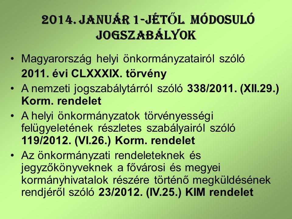 Kapcsolattartás formája 2013-tól 338/2011.(XII.29.) Korm.
