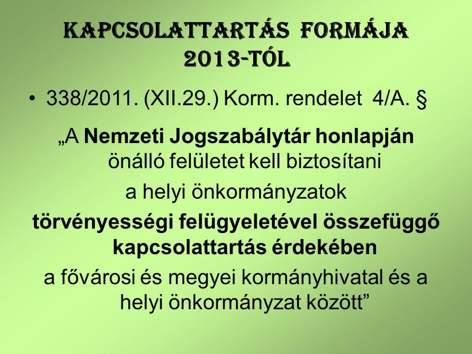 119/2012.(VI.26.) Korm.