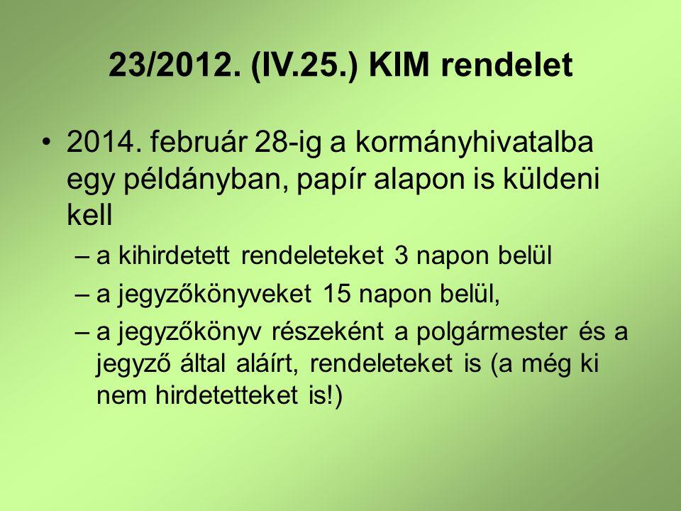 A Kormányhivatal Építésügyi és Örökségvédelmi Hivatalának (II fok) sürgős kérése a Rendezési Tervek egyeztetési eljárásával kapcsolatban 314/2012.