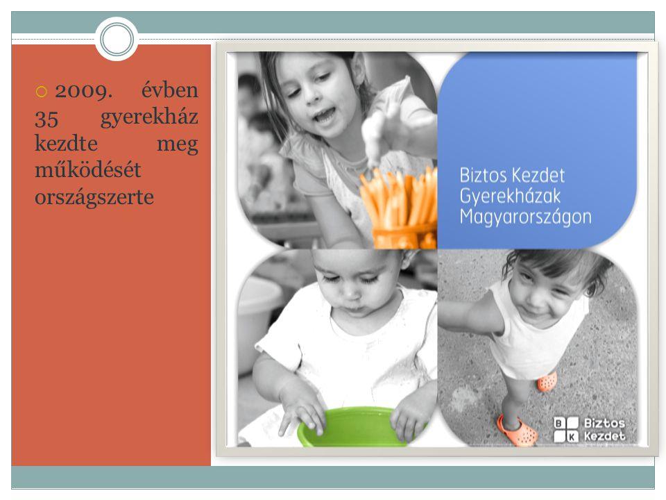  2009. évben 35 gyerekház kezdte meg működését országszerte