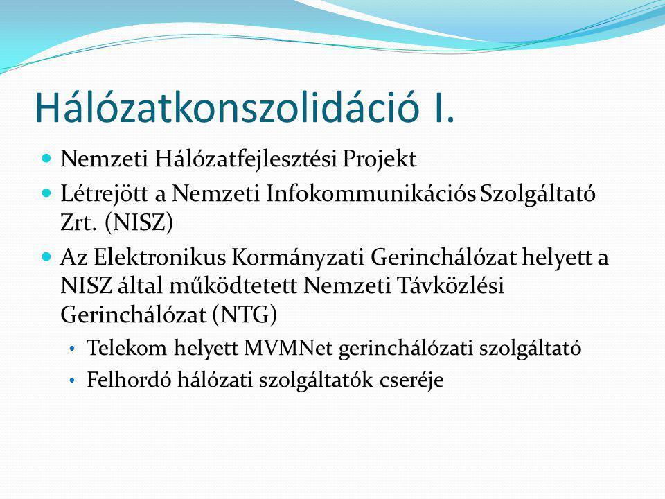 Hálózatkonszolidáció II.