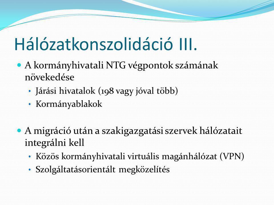 Hálózatkonszolidáció III.