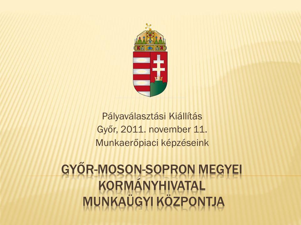 Pályaválasztási Kiállítás Győr, 2011. november 11. Munkaerőpiaci képzéseink