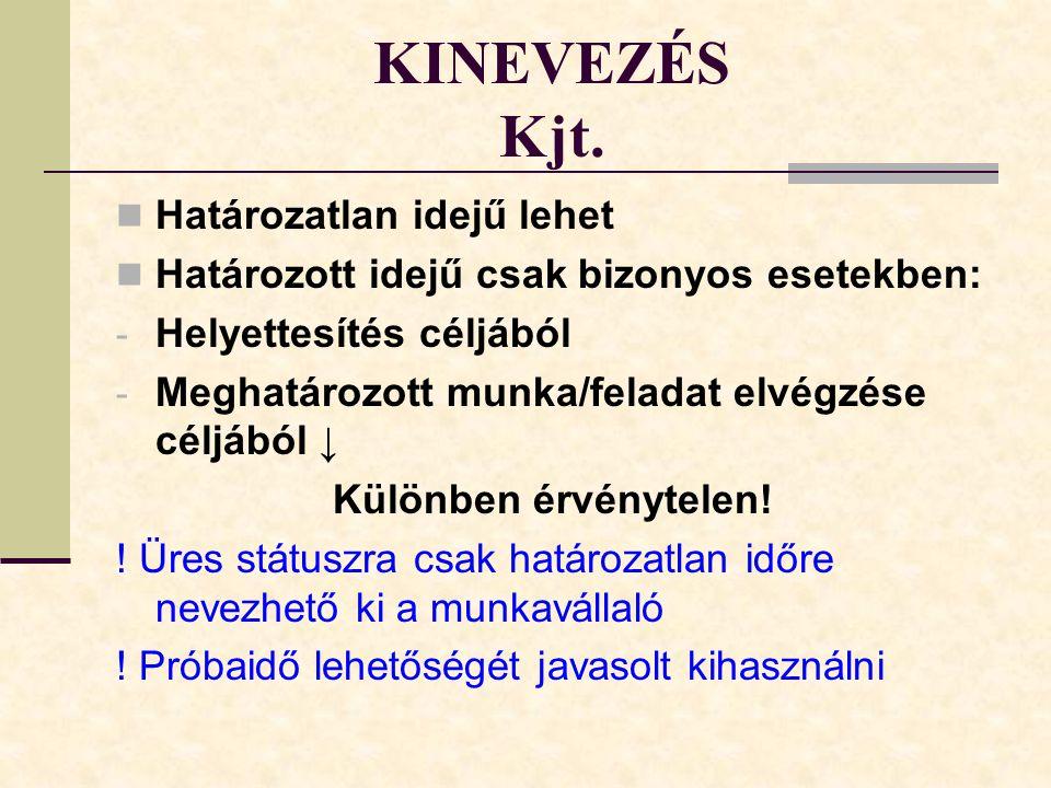 KINEVEZÉS Kjt.