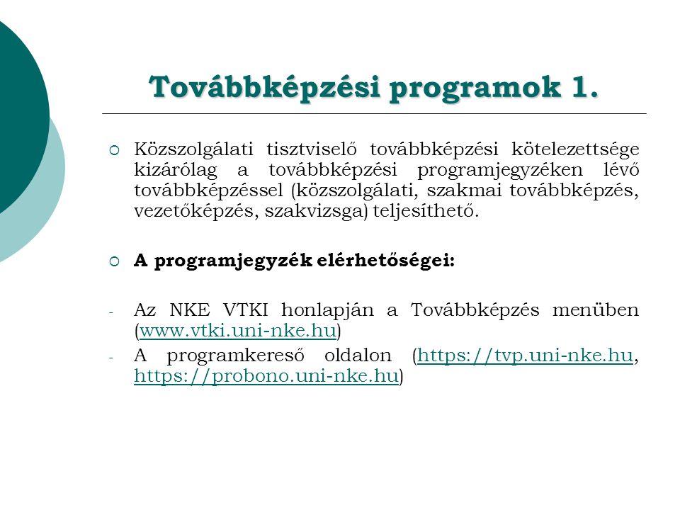 Továbbképzési programok 1.
