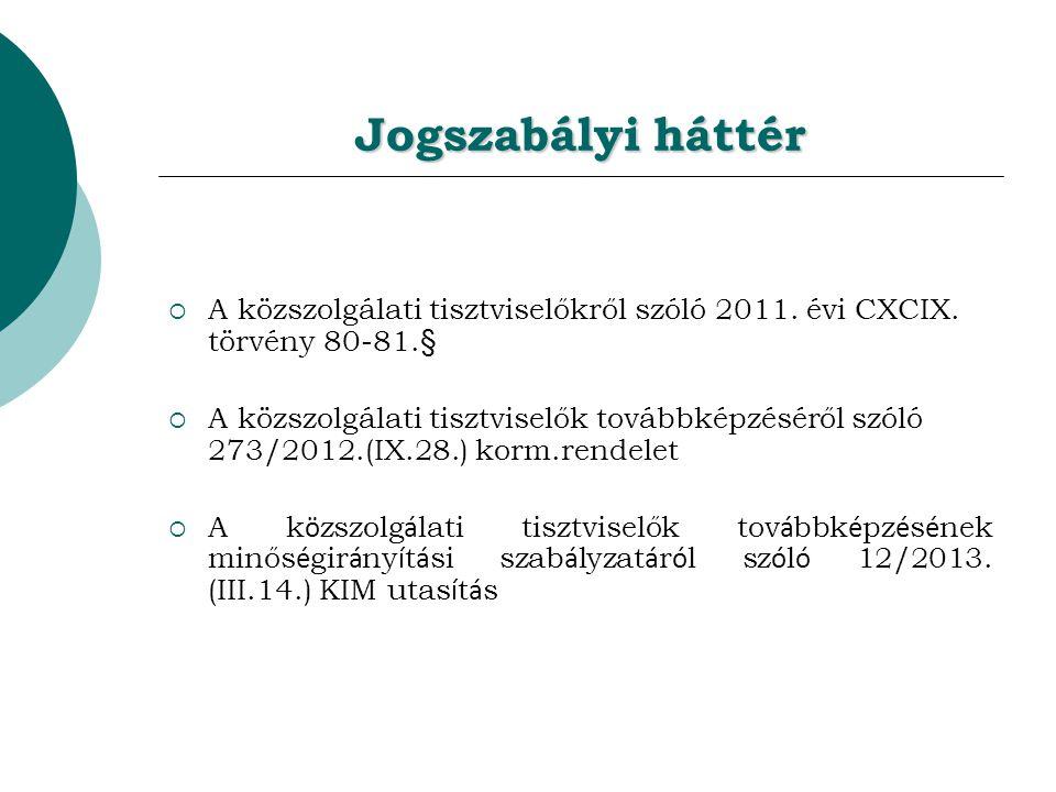 Jogszabályi háttér  A közszolgálati tisztviselőkről szóló 2011.