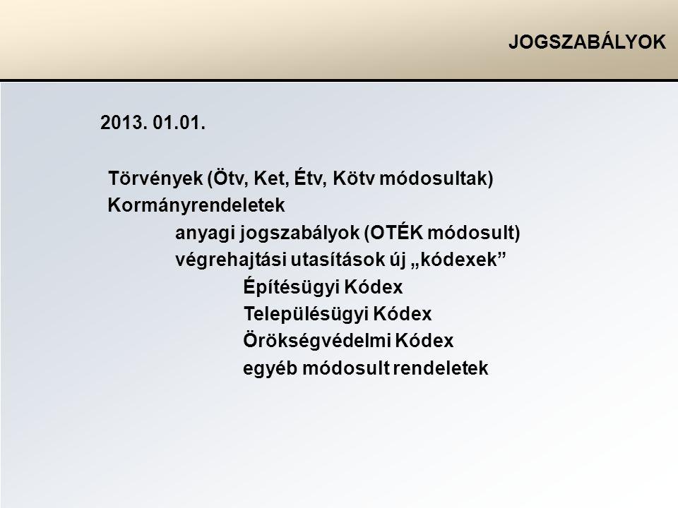 JOGSZABÁLYOK 2013.01.01.