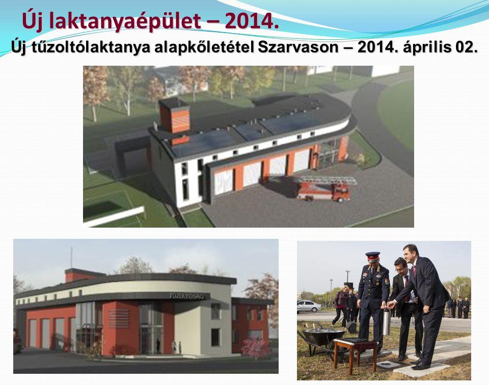 Új laktanyaépület – 2014. Új tűzoltólaktanya alapkőletétel Szarvason – 2014. április 02.