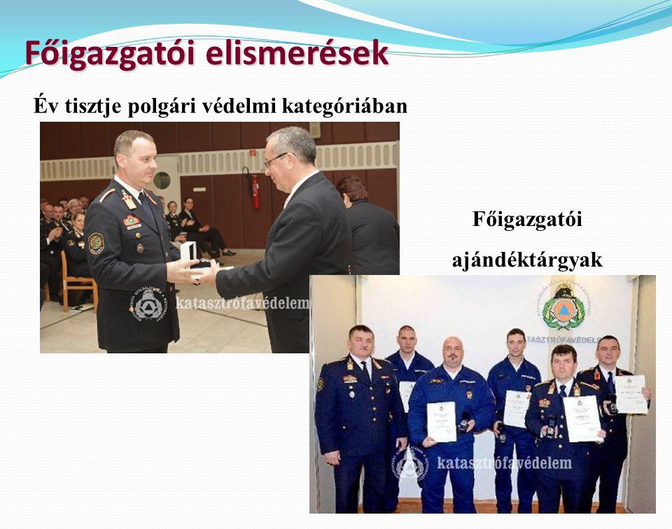 Főigazgatói elismerések Főigazgatói ajándéktárgyak Év tisztje polgári védelmi kategóriában