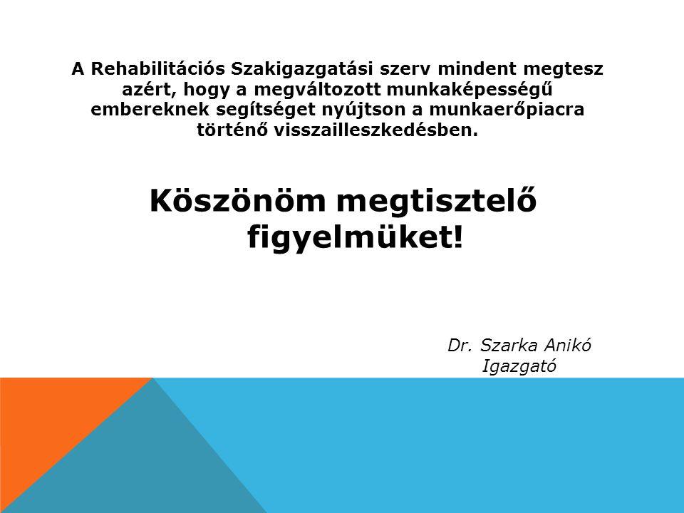 A Rehabilitációs Szakigazgatási szerv mindent megtesz azért, hogy a megváltozott munkaképességű embereknek segítséget nyújtson a munkaerőpiacra történ