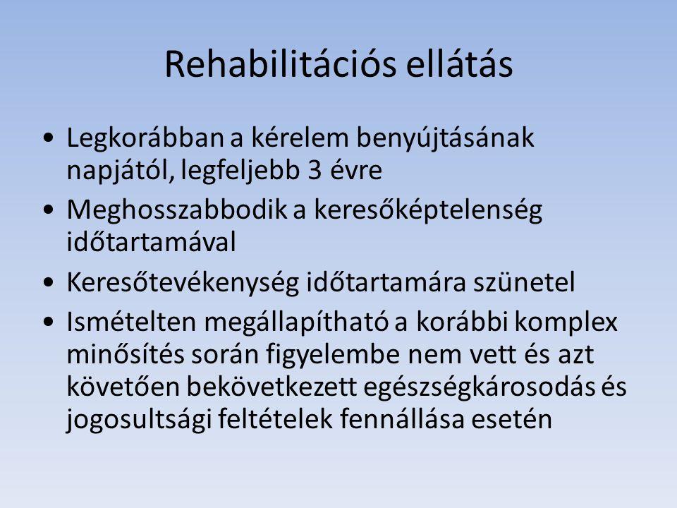 A rehabilitációs ellátás mértéke Az ellátás mértéke Az ellátás minimum összege (Ft/fő/hó) Az ellátás maximum összege (Ft/fő/hó) 51-60 % közötti egészségi állapot.