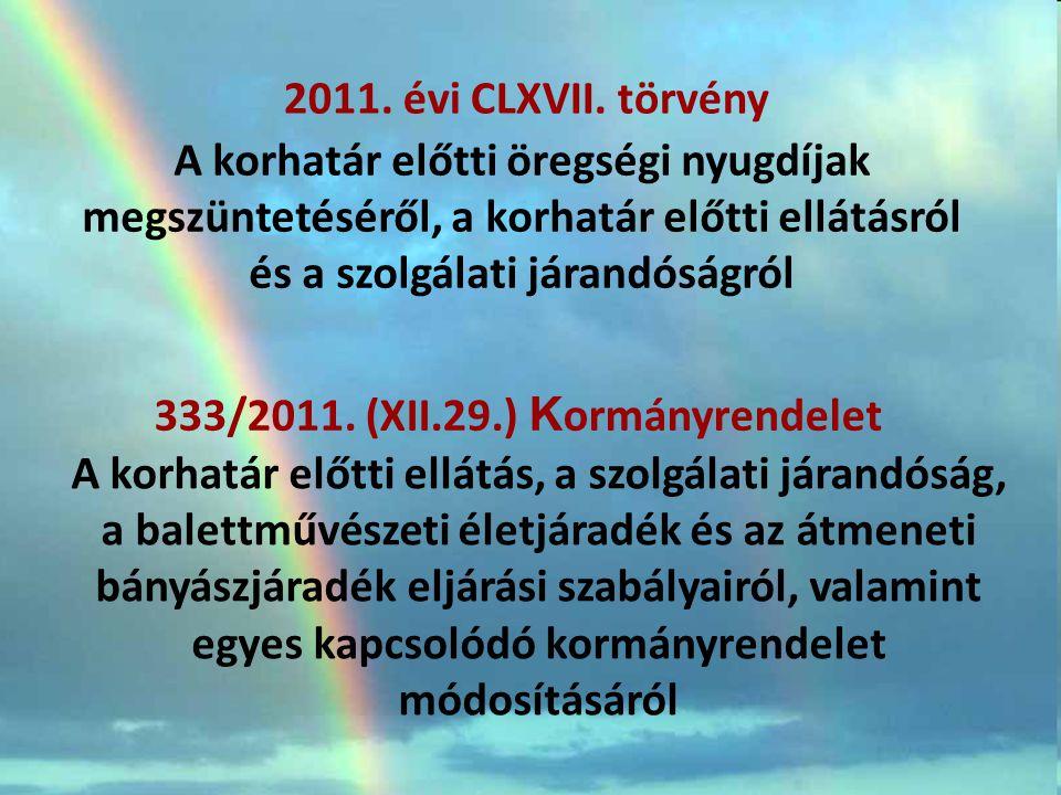 Tny.szerinti korhatár előtti öregségi nyugdíjak 2011.