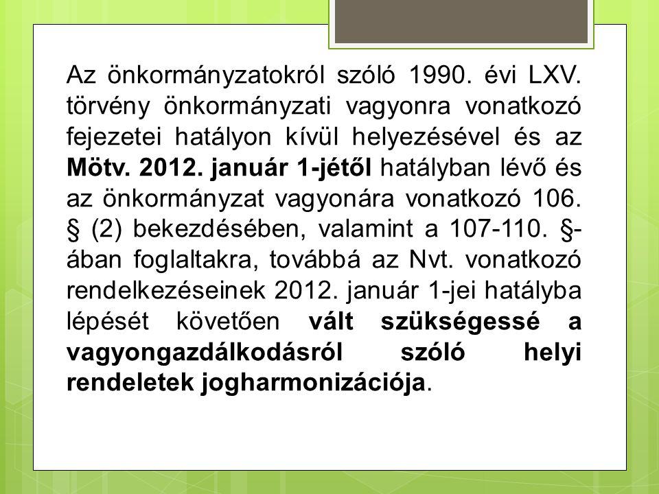 Az önkormányzatokról szóló 1990.évi LXV.
