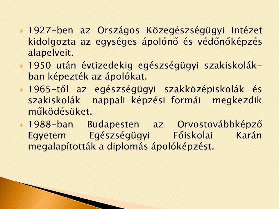  Hazánkban az ápolás szakfelügyeleti tevékenység alapjainak lerakása, és elsőként történő gyakorlati alkalmazása Kossuth Zsuzsa nevéhez köthető.