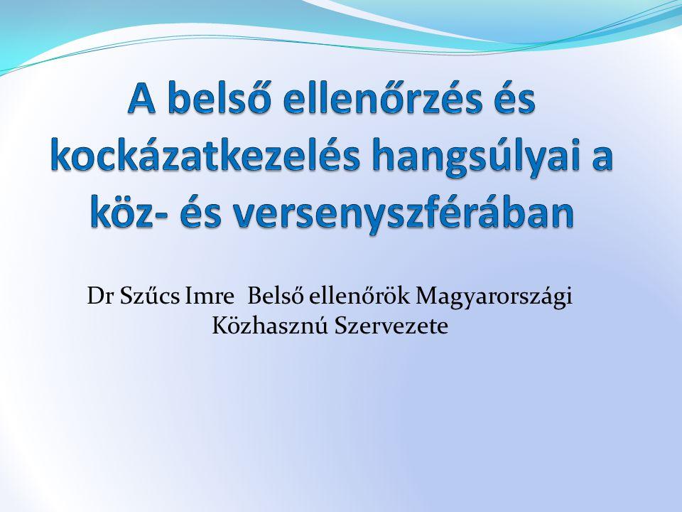 Dr Szűcs Imre Belső ellenőrök Magyarországi Közhasznú Szervezete