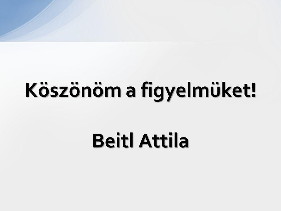 Köszönöm a figyelmüket! Beitl Attila