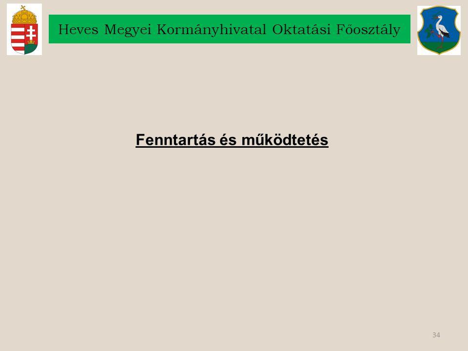 34 Heves Megyei Kormányhivatal Oktatási Főosztály Fenntartás és működtetés