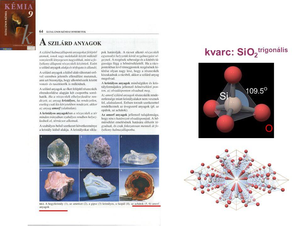 O Si kvarc: SiO 2 trigonális