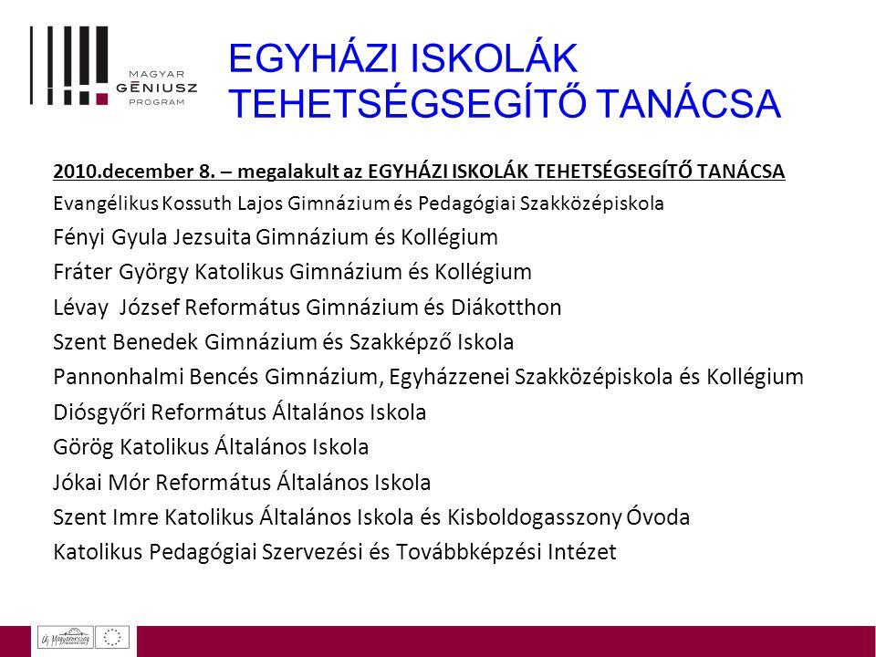 EGYHÁZI ISKOLÁK TEHETSÉGSEGÍTŐ TANÁCSA 2010.december 8. – megalakult az EGYHÁZI ISKOLÁK TEHETSÉGSEGÍTŐ TANÁCSA Evangélikus Kossuth Lajos Gimnázium és