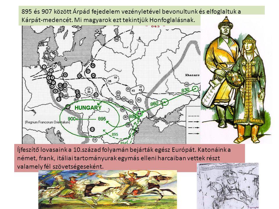 895 és 907 között Árpád fejedelem vezényletével bevonultunk és elfoglaltuk a Kárpát-medencét. Mi magyarok ezt tekintjük Honfoglalásnak. Íjfeszítő lova