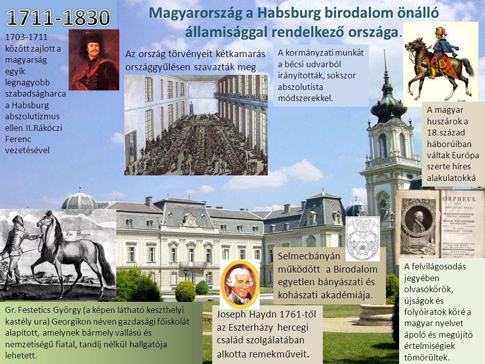 Magyarország a Habsburg birodalom önálló államisággal rendelkező országa. 1703-1711 között zajlott a magyarság egyik legnagyobb szabadságharca a Habsb