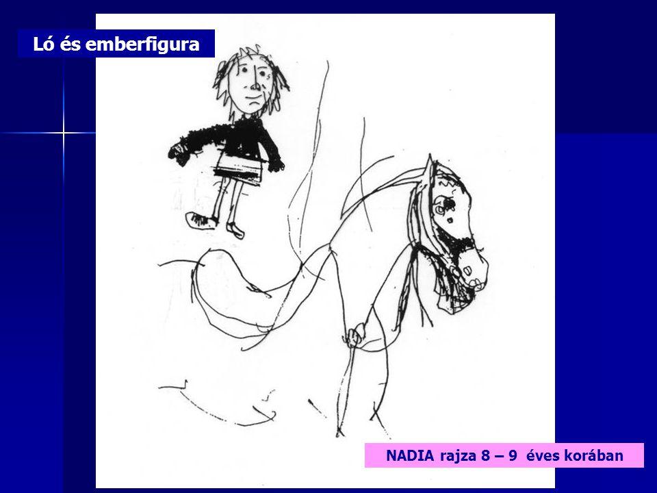 Ló és emberfigura NADIA rajza 8 – 9 éves korában