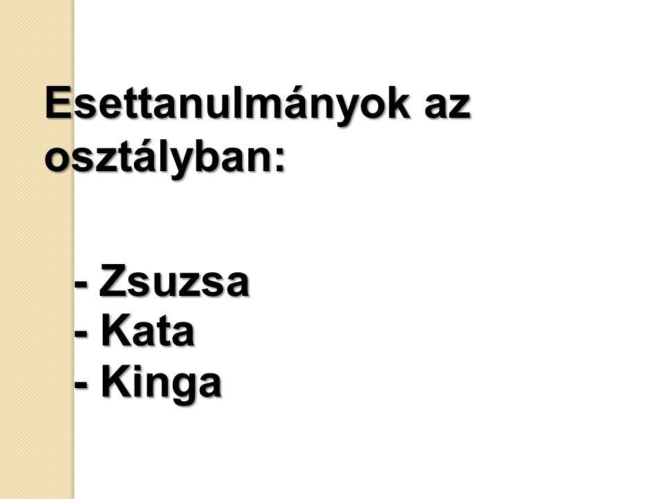 Esettanulmányok az osztályban: - Zsuzsa - Kata - Kinga