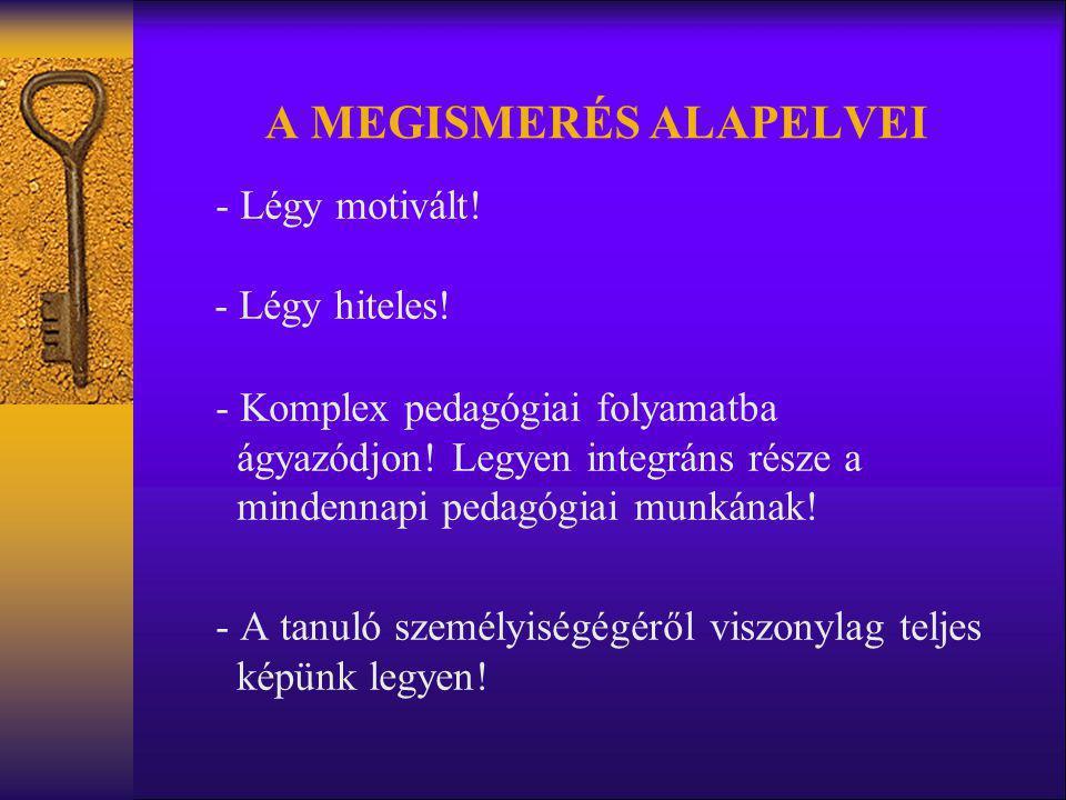 A MEGISMERÉS ALAPELVEI - Légy motivált! - Légy hiteles! - Komplex pedagógiai folyamatba ágyazódjon! Legyen integráns része a mindennapi pedagógiai mun