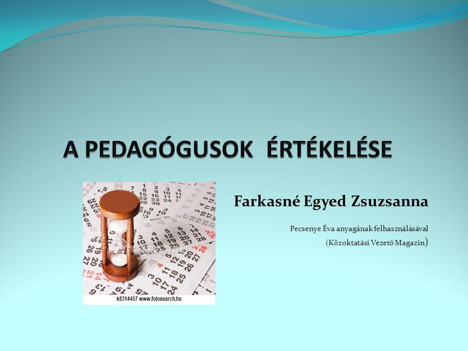 Farkasné Egyed Zsuzsanna Pecsenye Éva anyagának felhasználásával (Közoktatási Vezető Magazin )