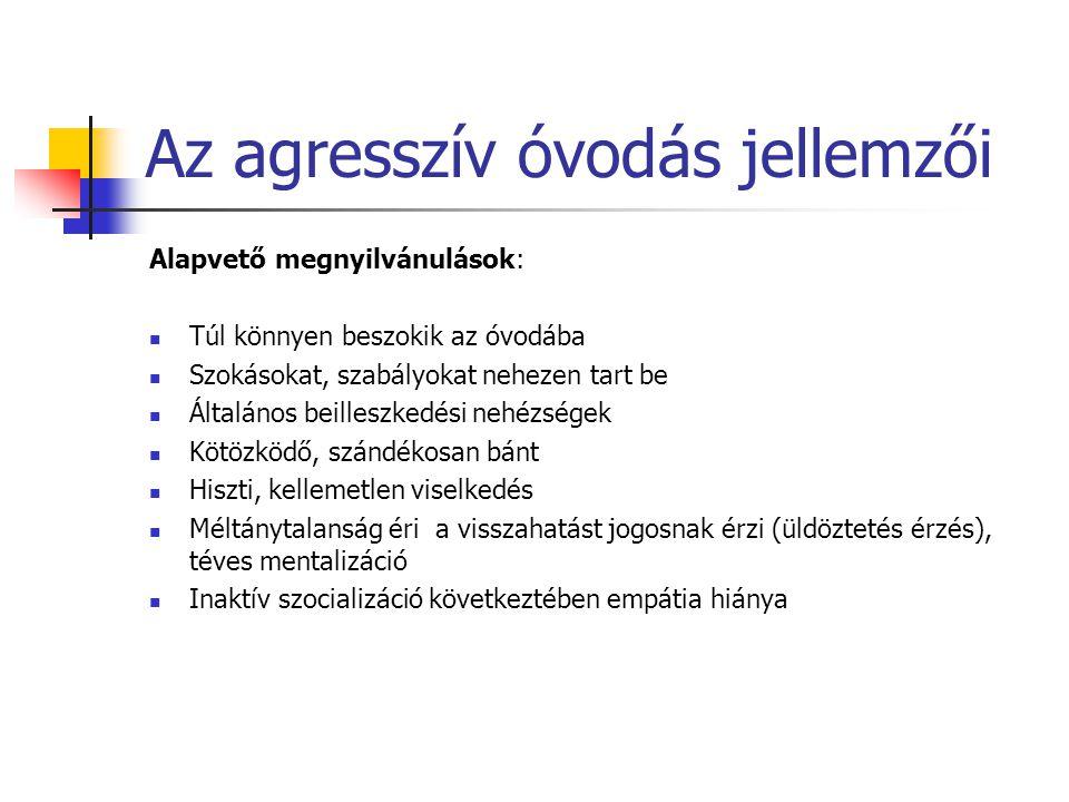 """Kapcsolat a családdal - külső A beavatkozás lehetséges szintjei, a bevonás módjai: - szociális háló: családsegítő, gyermekjóléti szolgáltatás, szociális munkás - pszichológiai segítség - kriminológiai/jogi segítség Módszerek, az agresszió """"akadálymentesítése : - konfliktuskezelés - mediáció - resztoratív (helyreállító) megoldások"""