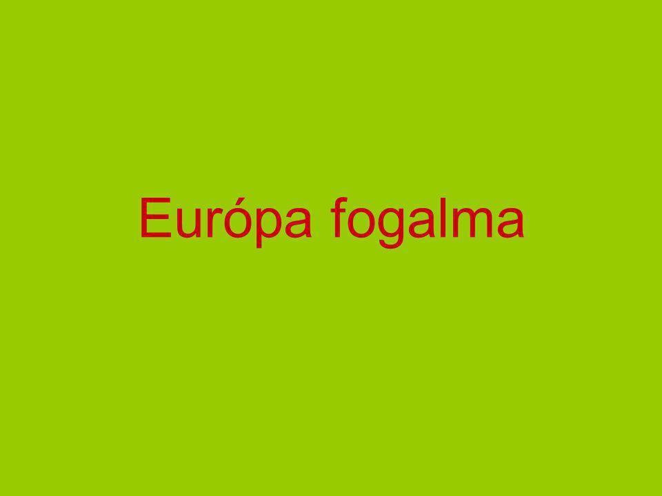 Európa fogalma