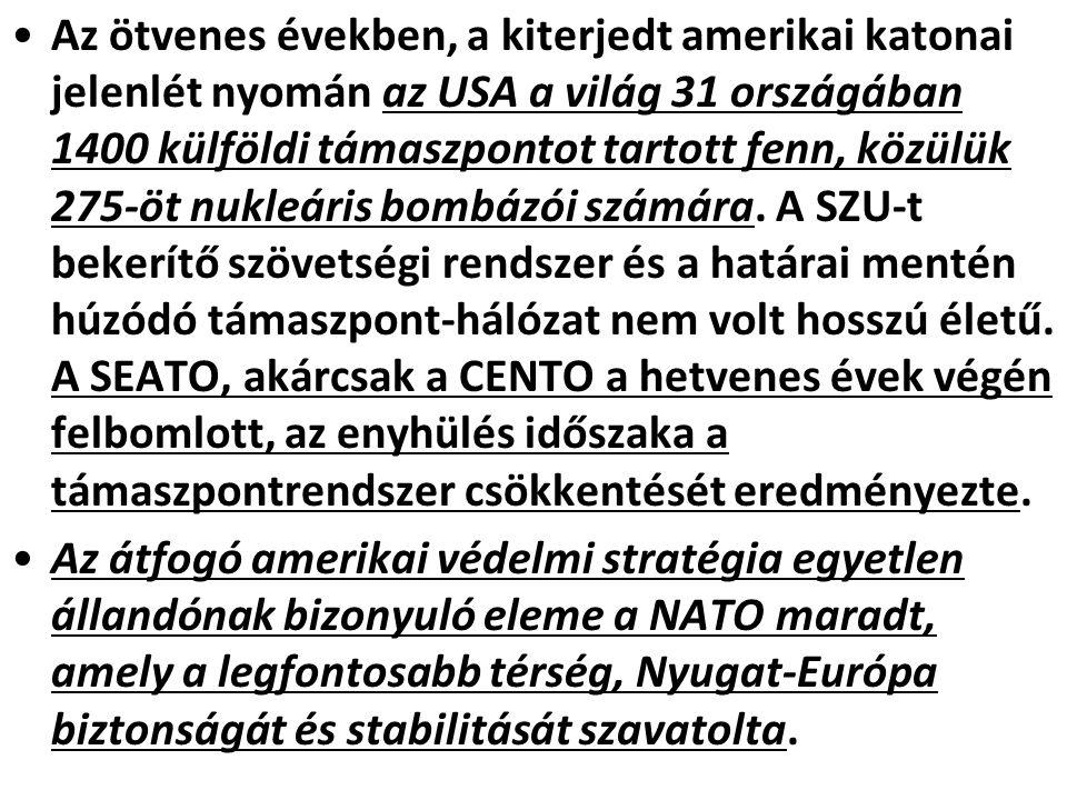 A NATO tagjai Alapító tagok (1949): Belgium Kanada Dánia Franciaország (1966-ban kilépett a katonai szervezetből)Franciaország Izland Olaszország Luxemburg Hollandia Norvégia Portugália Egyesült Királyság Amerikai Egyesült Államok