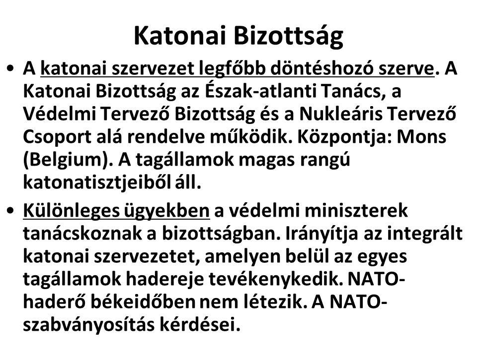 Katonai Bizottság A katonai szervezet legfőbb döntéshozó szerve.