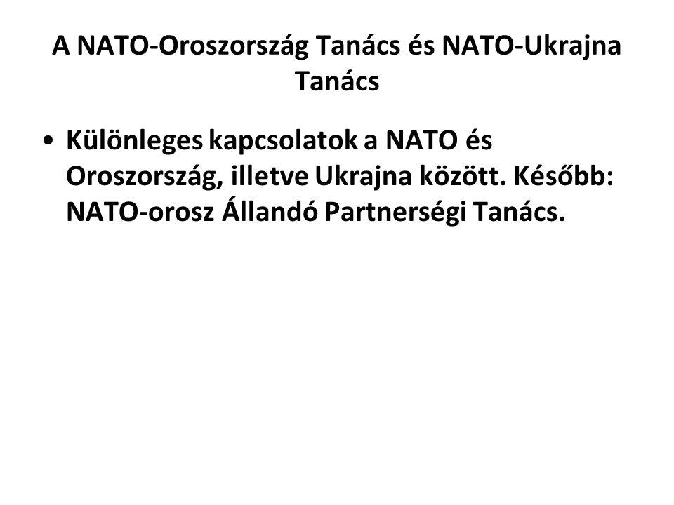 A NATO-Oroszország Tanács és NATO-Ukrajna Tanács Különleges kapcsolatok a NATO és Oroszország, illetve Ukrajna között.