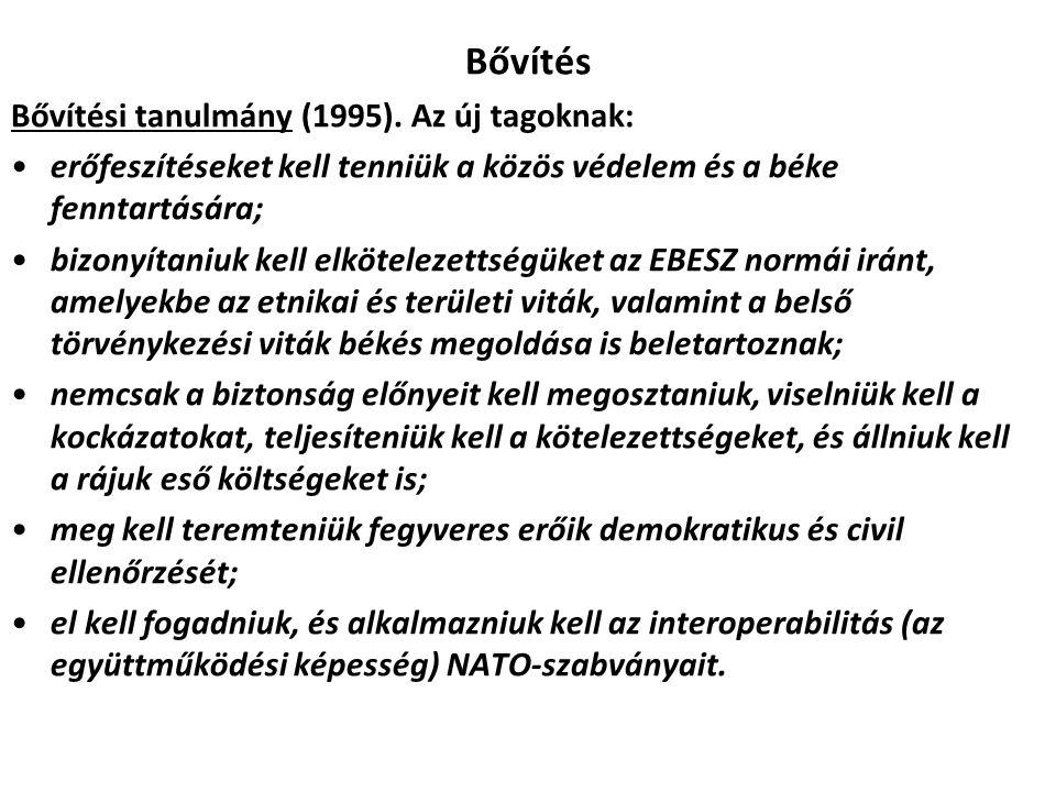 Bővítés Bővítési tanulmány (1995).
