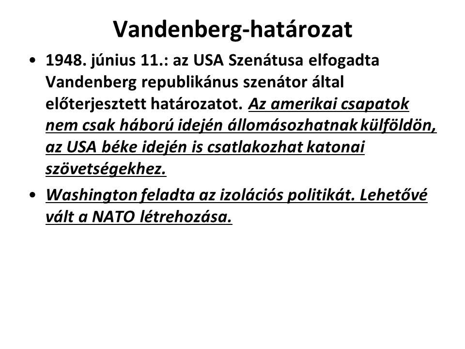 Vandenberg-határozat 1948.