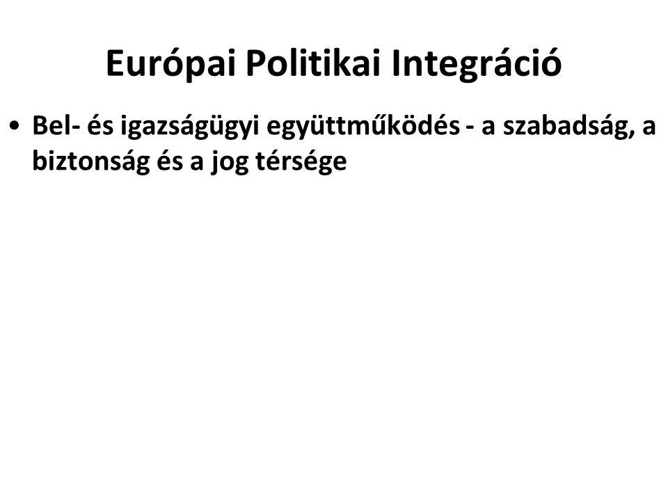Európai Politikai Integráció Bel- és igazságügyi együttműködés - a szabadság, a biztonság és a jog térsége
